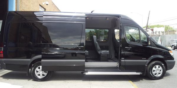 Stylish 12 Passenger Van Rental Boston Blue Nile Livery